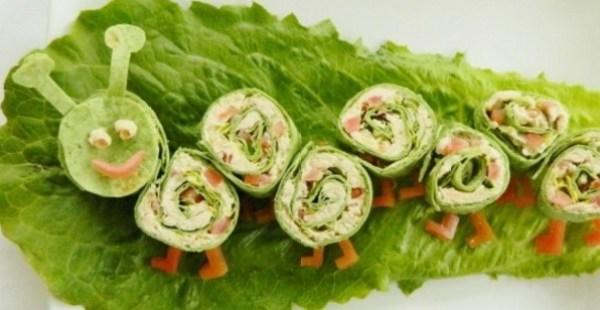 Caterpillar Salad Snack Wrap