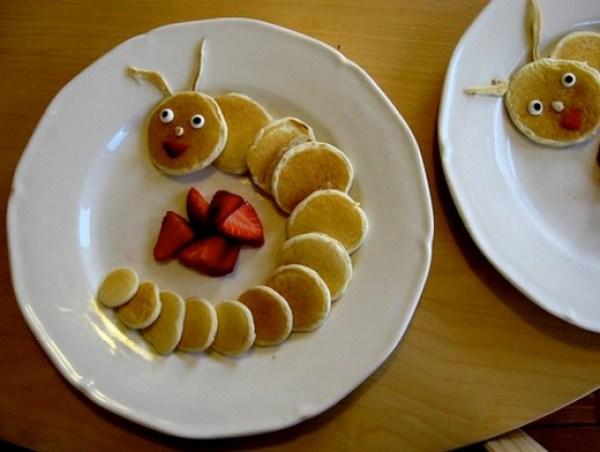 Caterpillar Made From Mini Pancakes
