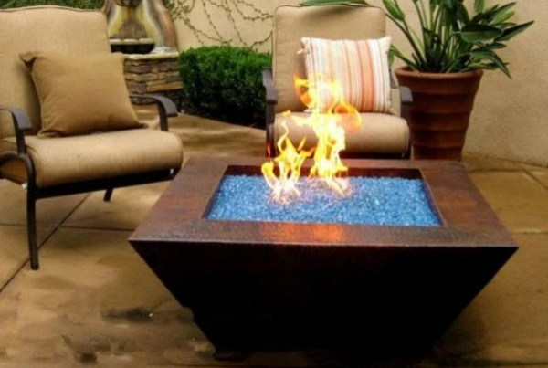 Fire Glass, Outdoor Fireplace