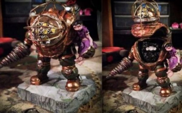 Custom Bioshock Big Daddy Engagement Ring Box