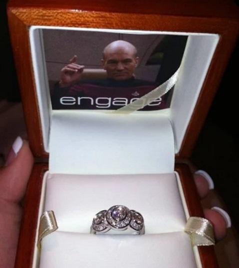 Captain Jean-Luc Picard Proposal ring box