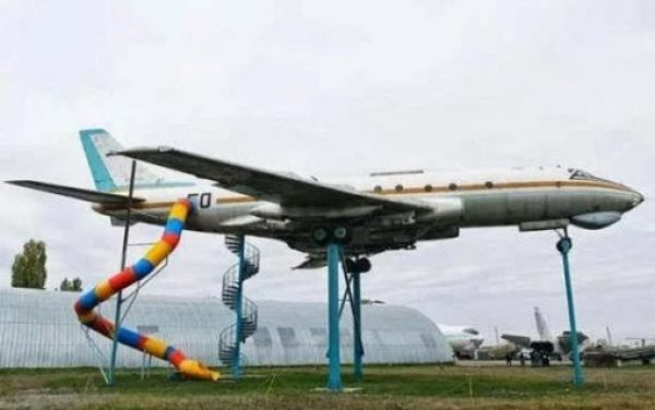 Repurposed Airplane Turned into a Children's Playgrounds