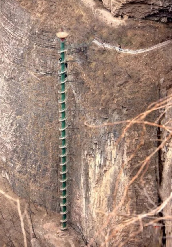 Staircase in Taihang Mountains, China