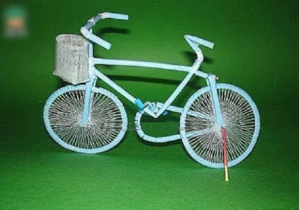 Bicycle Made From Drinking Straws