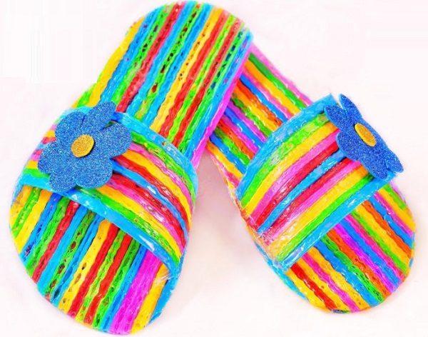 Flip-flops Made From Drinking Straws
