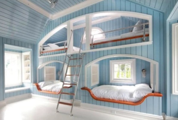 Double sided, Double bunk bed design