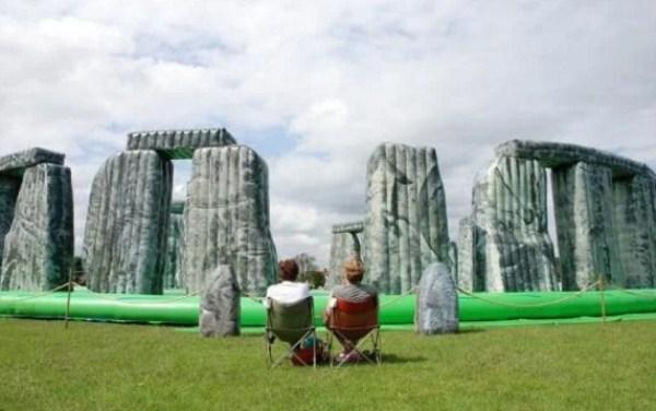 Jeremy Deller's inflatable Stonehenge