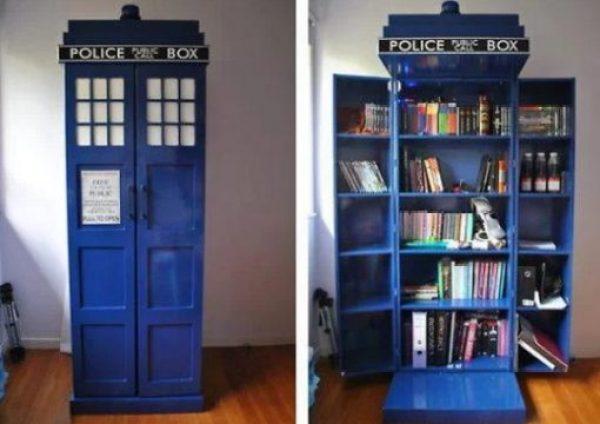 TARDIS Book Cabinet