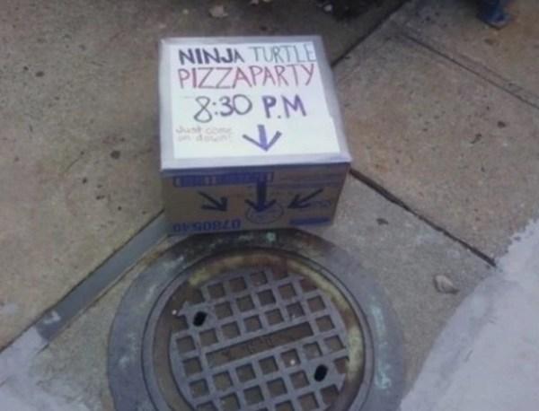 This Ninja Turtle Pizza Party Seems Legit!