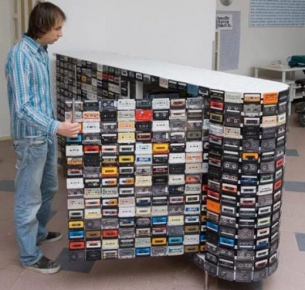 Breakfast bar Made From Cassette Tapes