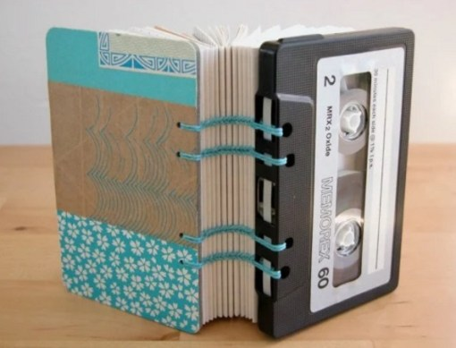 Note Book Made From Cassette Tapes