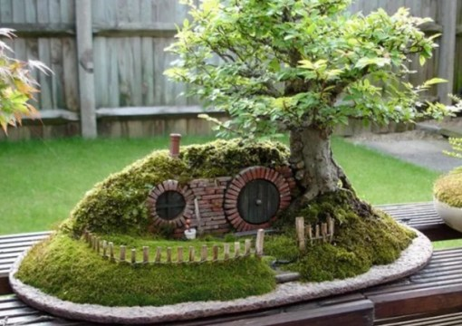 Bonsai Tree Turned into Hobbit House