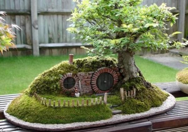 Bonsai Tree Turned into Hobbit House