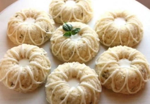Mini lemon basil bundt cakes