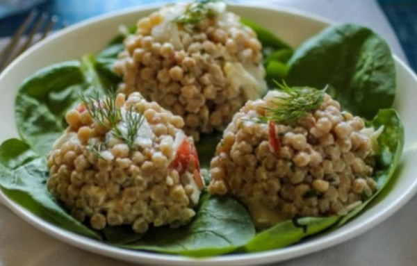 Creamy Couscous Salad With Crab And Dill