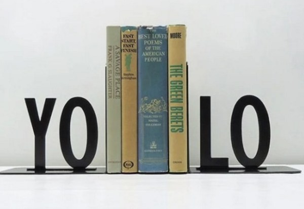YOLO Inspired bookends