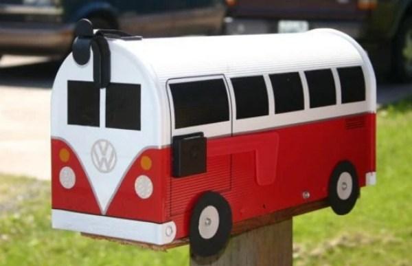 Volkswagen Campervan styled mailbox