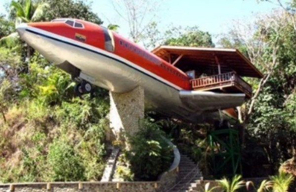 Airplane turned into house