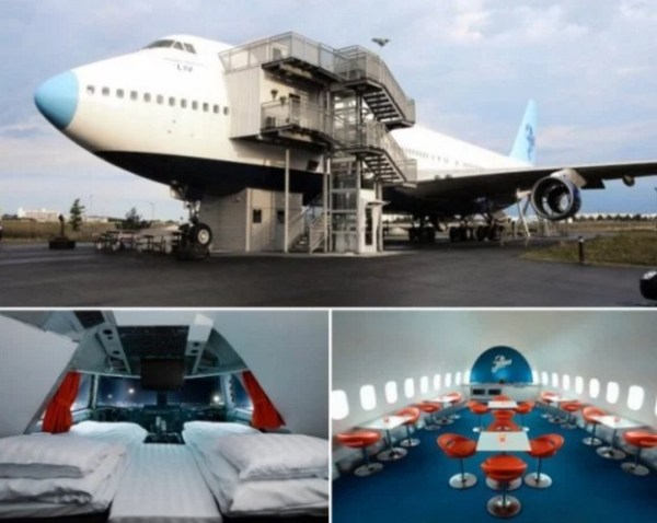 Air-plane Recycled into a hotel