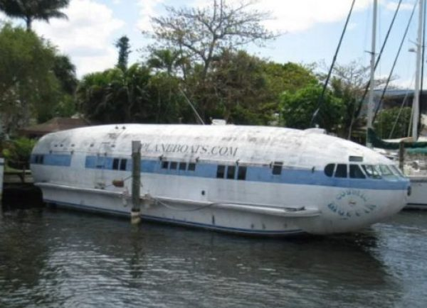 Airplane turned into Boat
