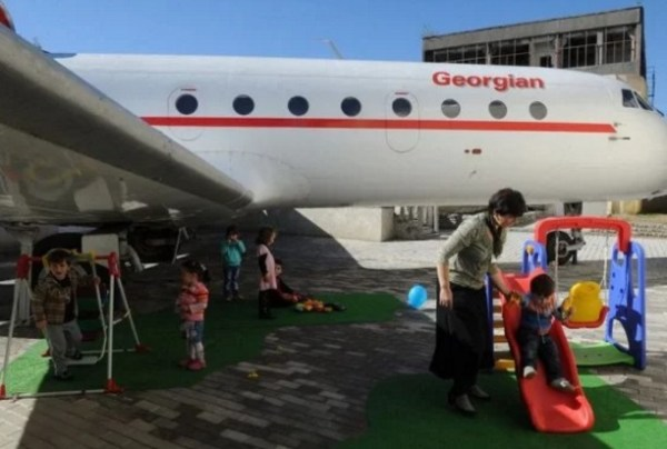 Airplane turned into School