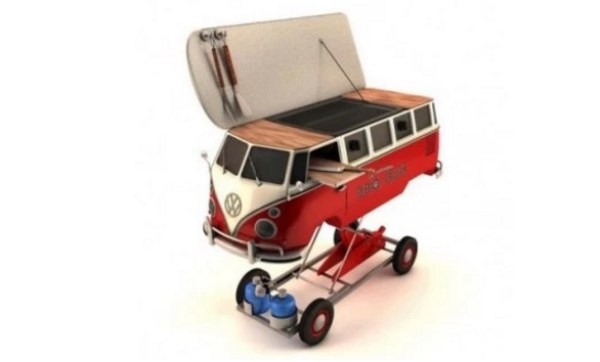 VW camper Inspired BBQ Grill