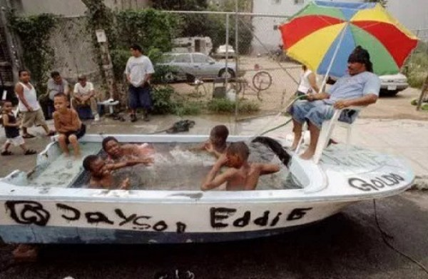 Swimming Pool Made With a Boat