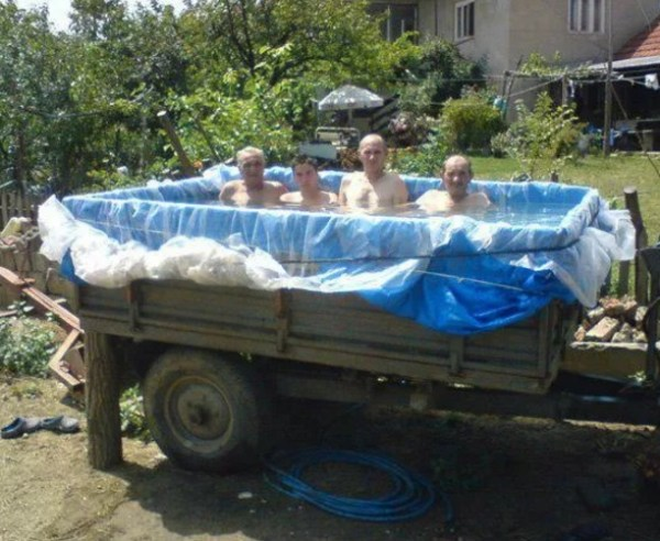 Swimming Pool Made With an Army Truck
