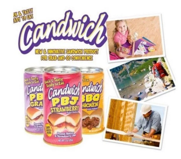 canned sandwiches
