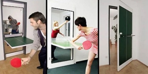 Ping Pong Tables Inspired Door