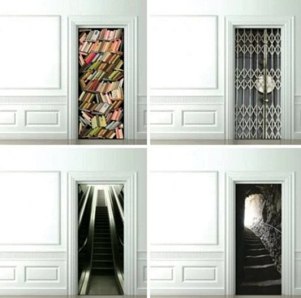 "Modern ""TROMPE-L'OEIL"" inspired door"