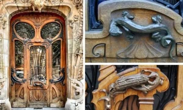 Art Nouveau inspired door