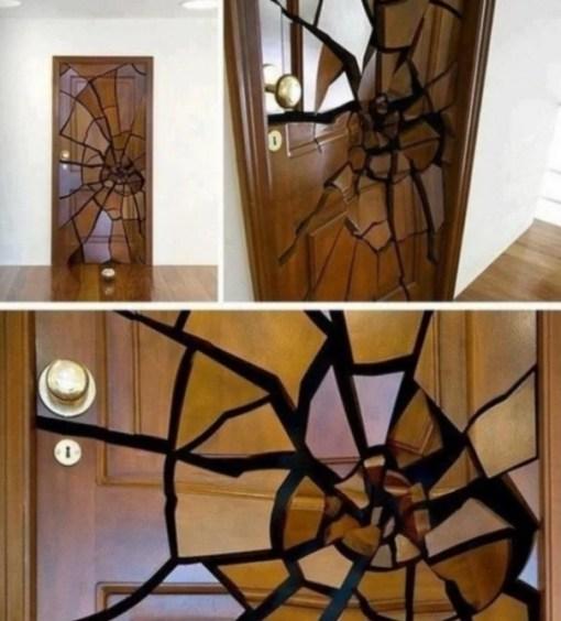 3D Smashed Effect Inspired Door