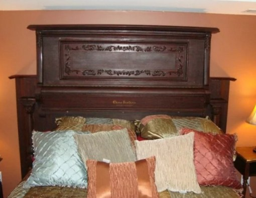 Piano Turned into bed Headboard