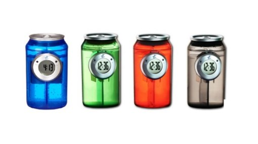 H2O Water-powered can-shaped clock