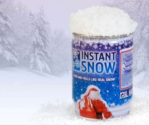 Instant Snow in a Can