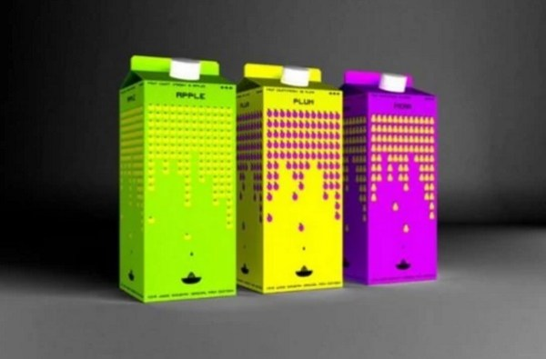 Space Invaders juice cartoons
