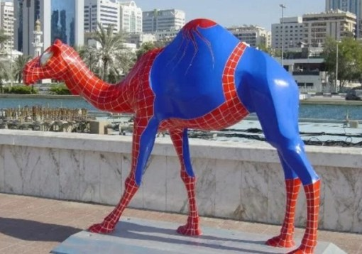 Camel Looks like Spider-Man