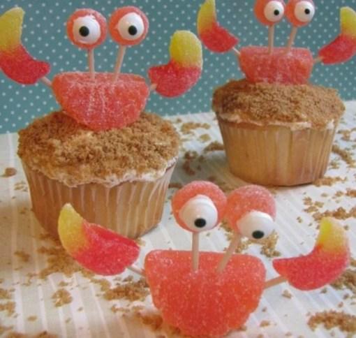 Crab shaped Cupcakes