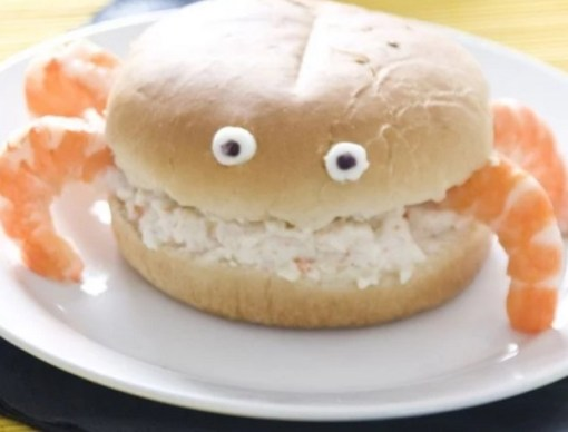 Crab Shaped Sandwich