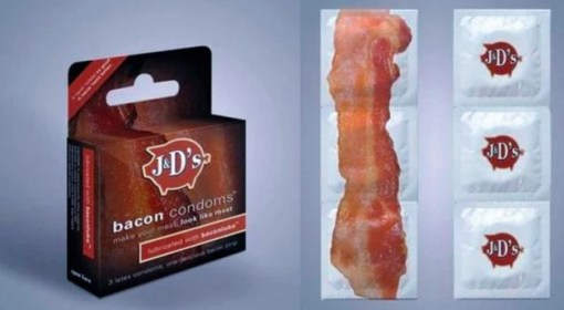 Bacon inspired Condoms
