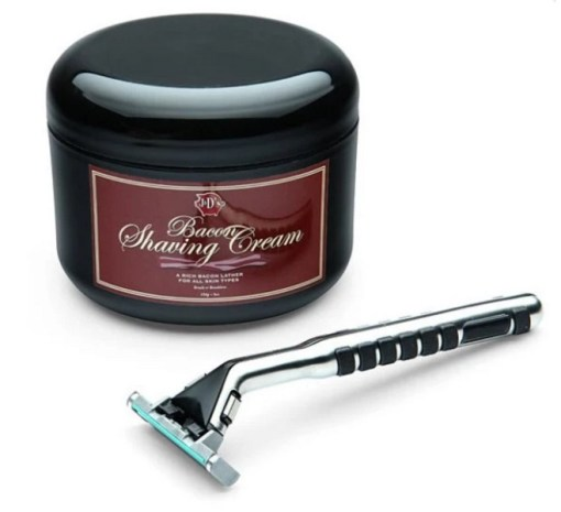 Bacon inspired shaving cream
