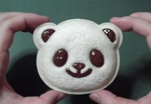 Panda Inspired Sandwich