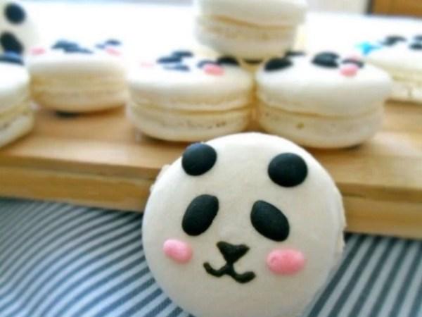Panda Inspired macaroons