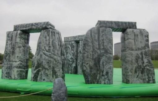 Inflatable replica of Stonehenge