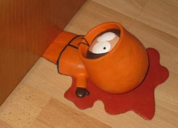 A door stop that looks like a Kenny from South Park