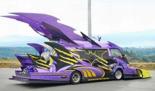 Batman themed Modified Japanese Van