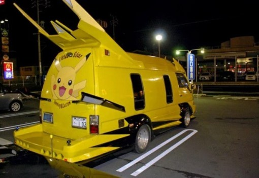 Pokémon themed Modified Van