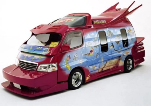 Bonby Nuts themed Modified Japanese Van