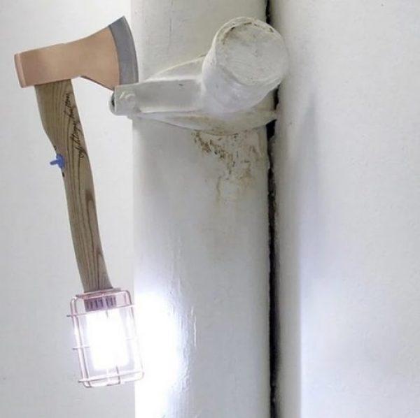 Axe Inspired Lamp